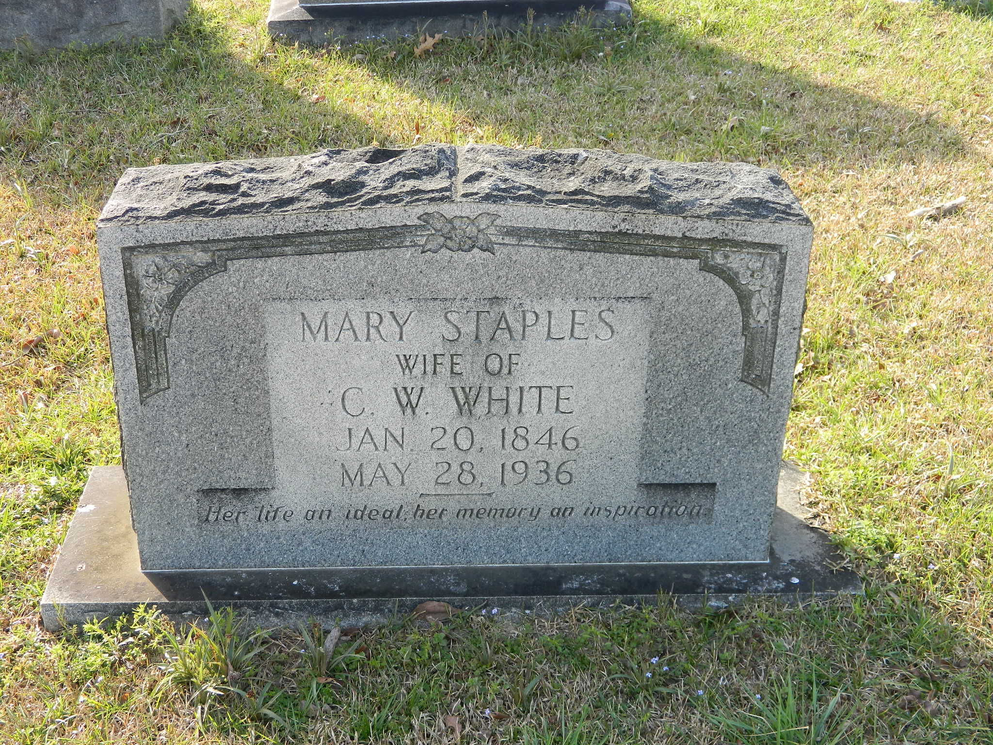 Mary <i>Staples</i> White