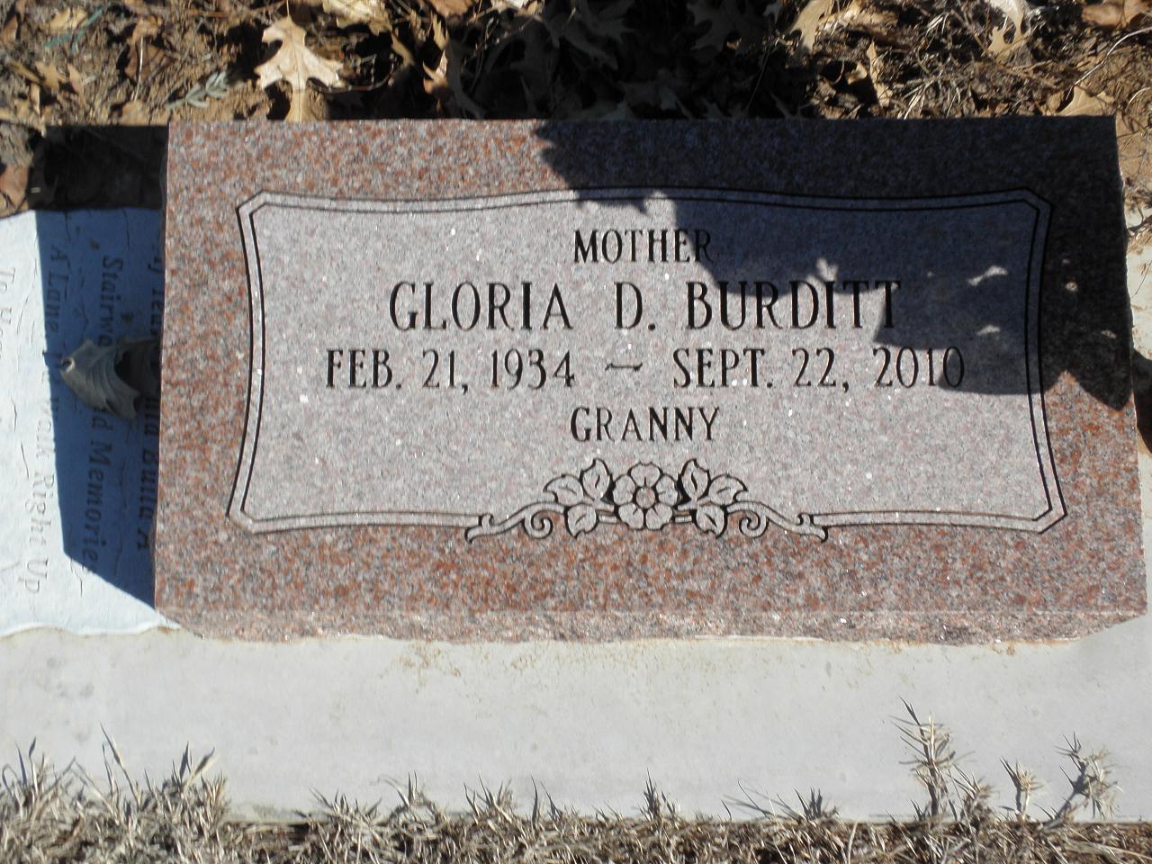 Gloria D <i>Skinner</i> Burditt