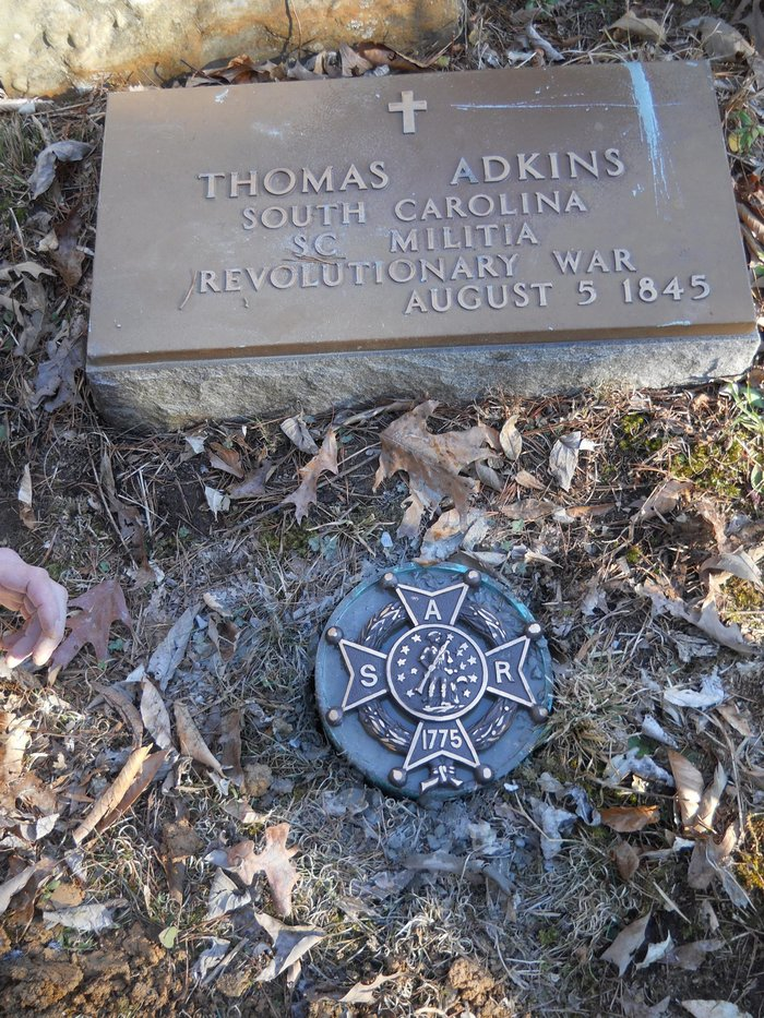 Thomas T  Adkins (1760-1845) - Find A Grave Memorial