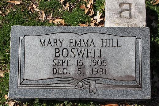 Mary Emma <i>Hill</i> Boswell