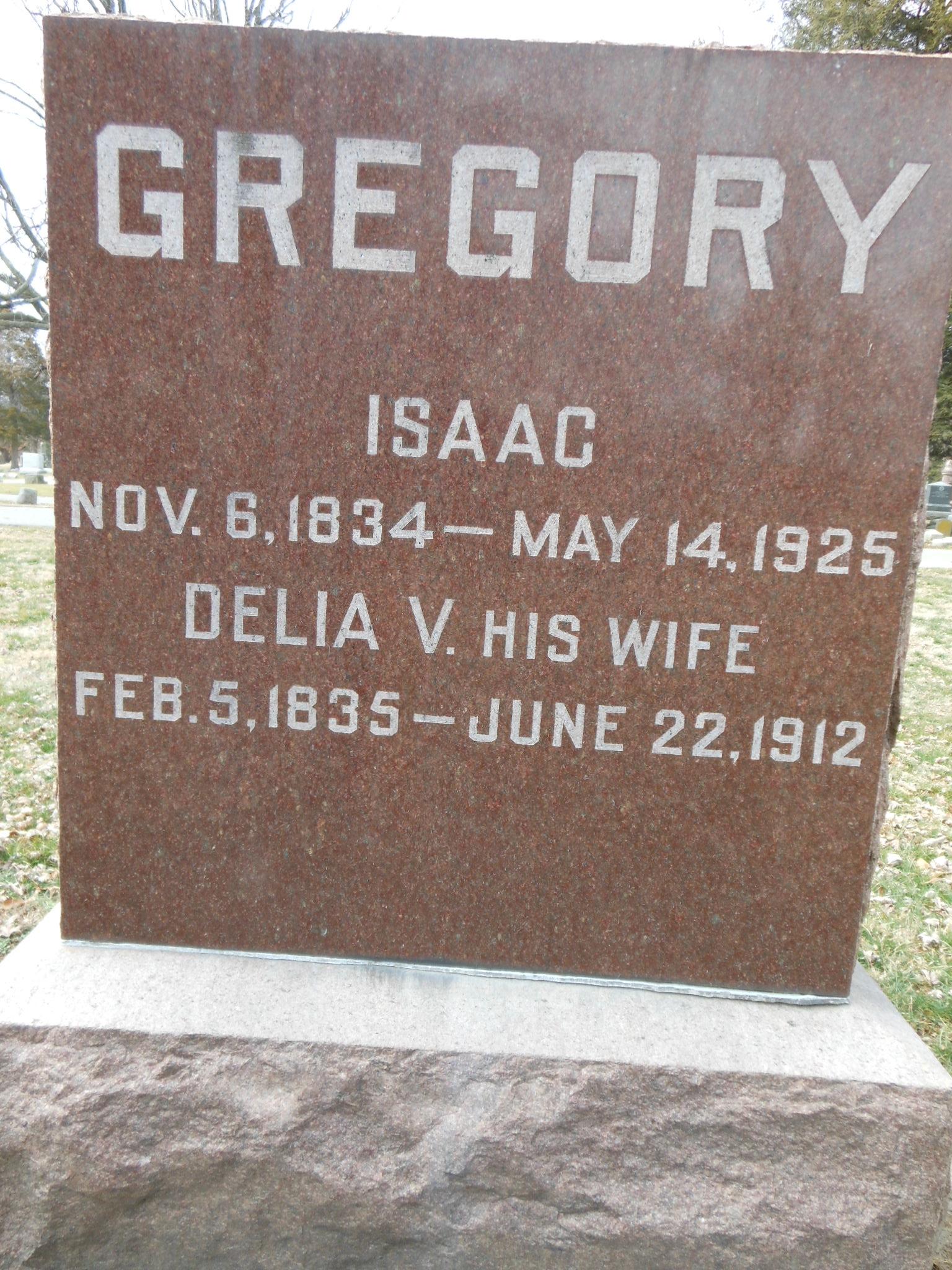 Delia V Gregory