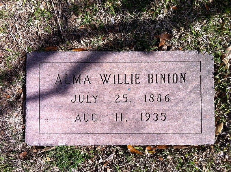 Alma Willie Binion