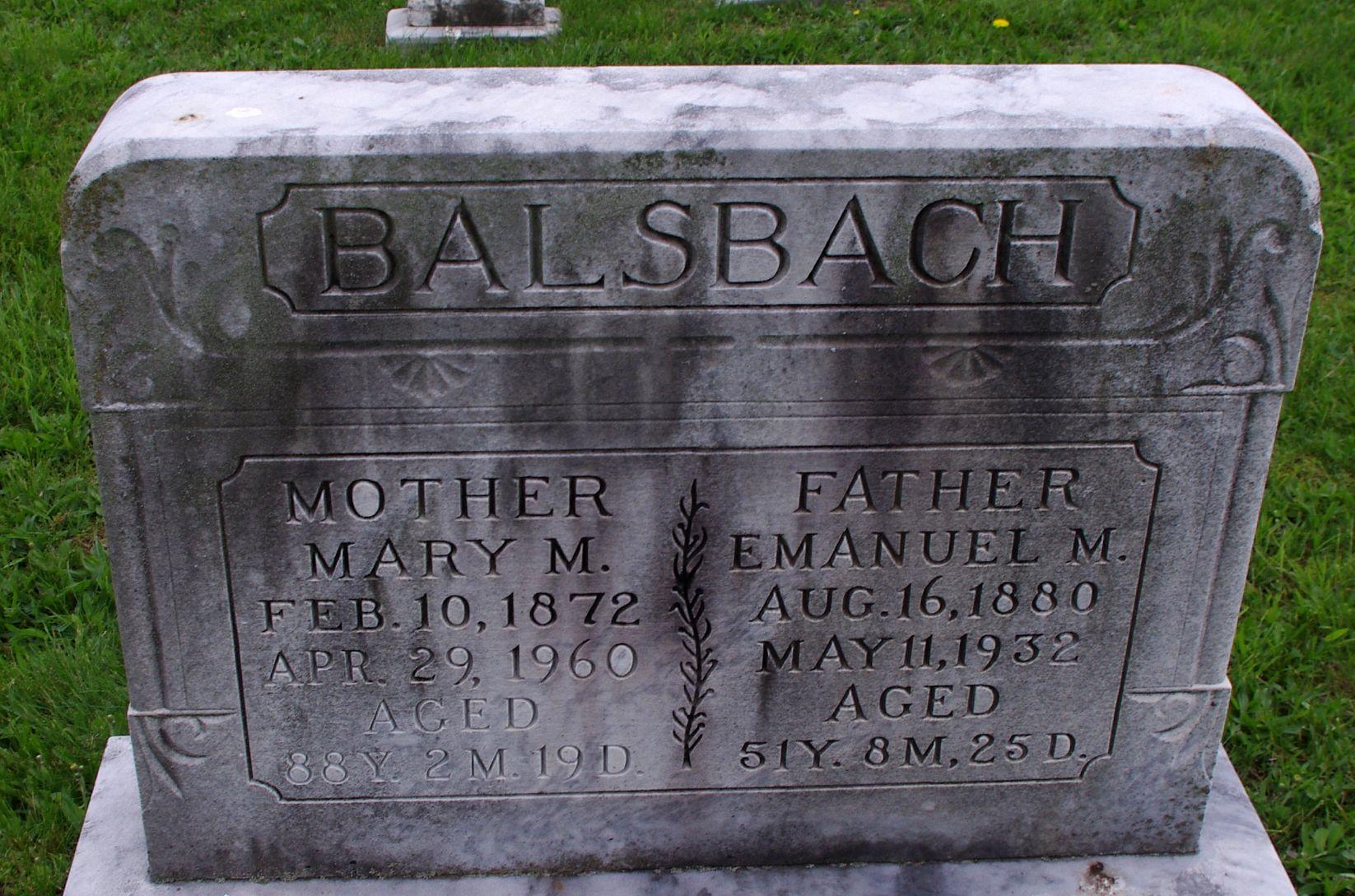 Mary M <i>Bright</i> Balsbach