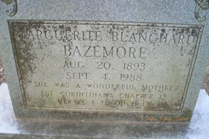 Marguerite Cora <i>Blanchard</i> Bazemore