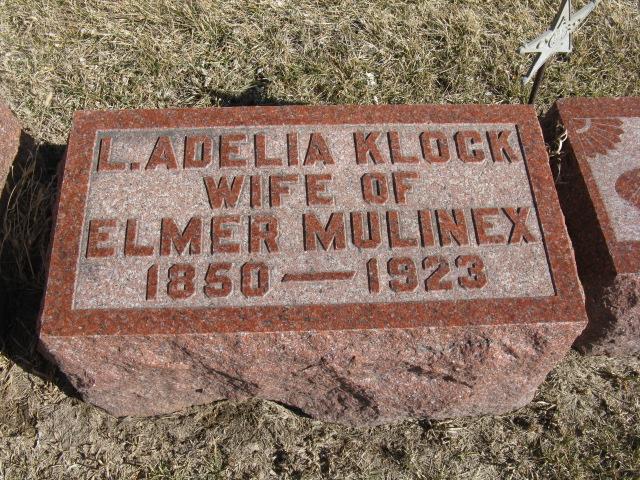 Lucinda Adelia <i>Klock</i> Mulinex