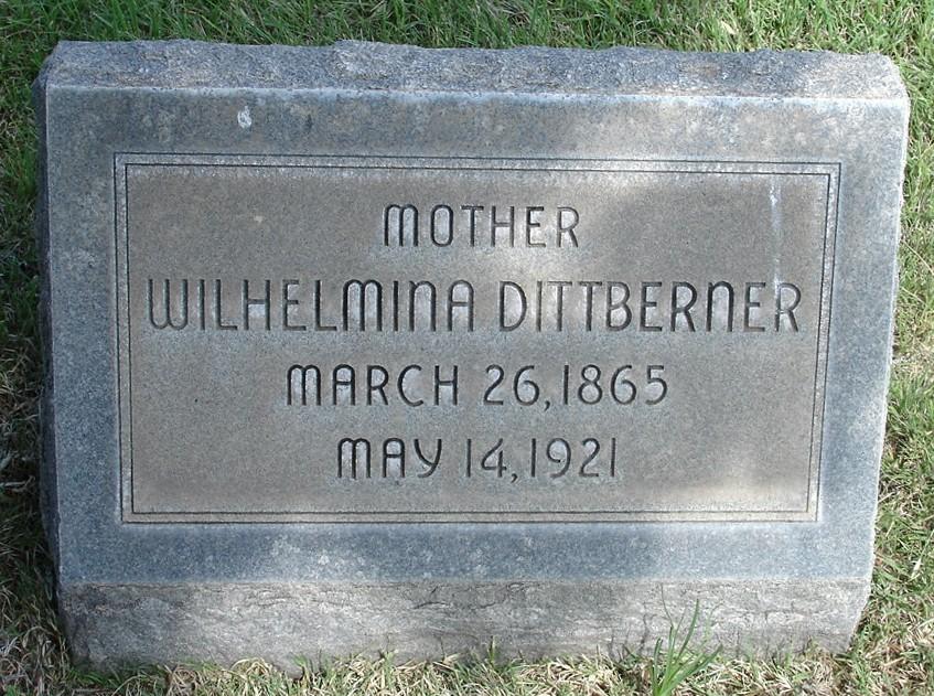 Wilhelmina Mina <i>Witt</i> Dittberner