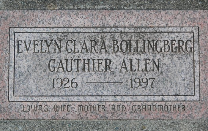 Evelyn Clara <i>Bollingberg Gauthier</i> Allen