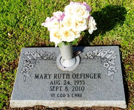 Mary Ruth <i>Cavitt</i> Oefinger
