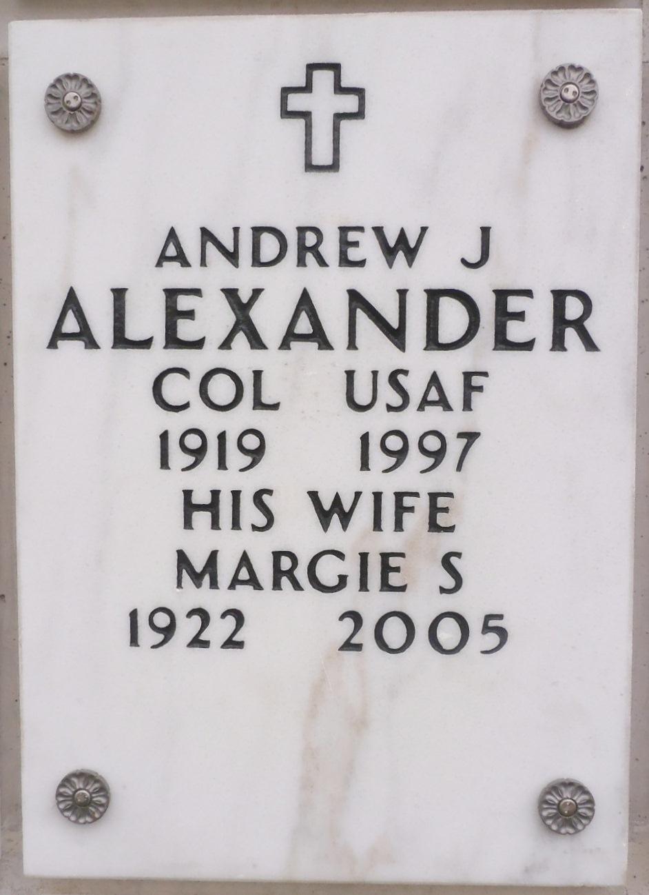Col Andrew Jackson Alexander