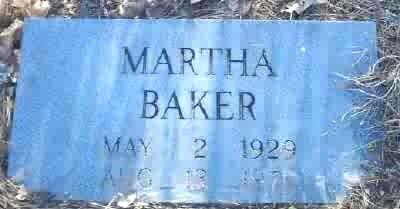 Martha <i>Hammons</i> Baker