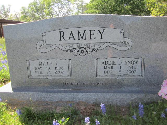 Addie D. <i>Snow</i> Ramey