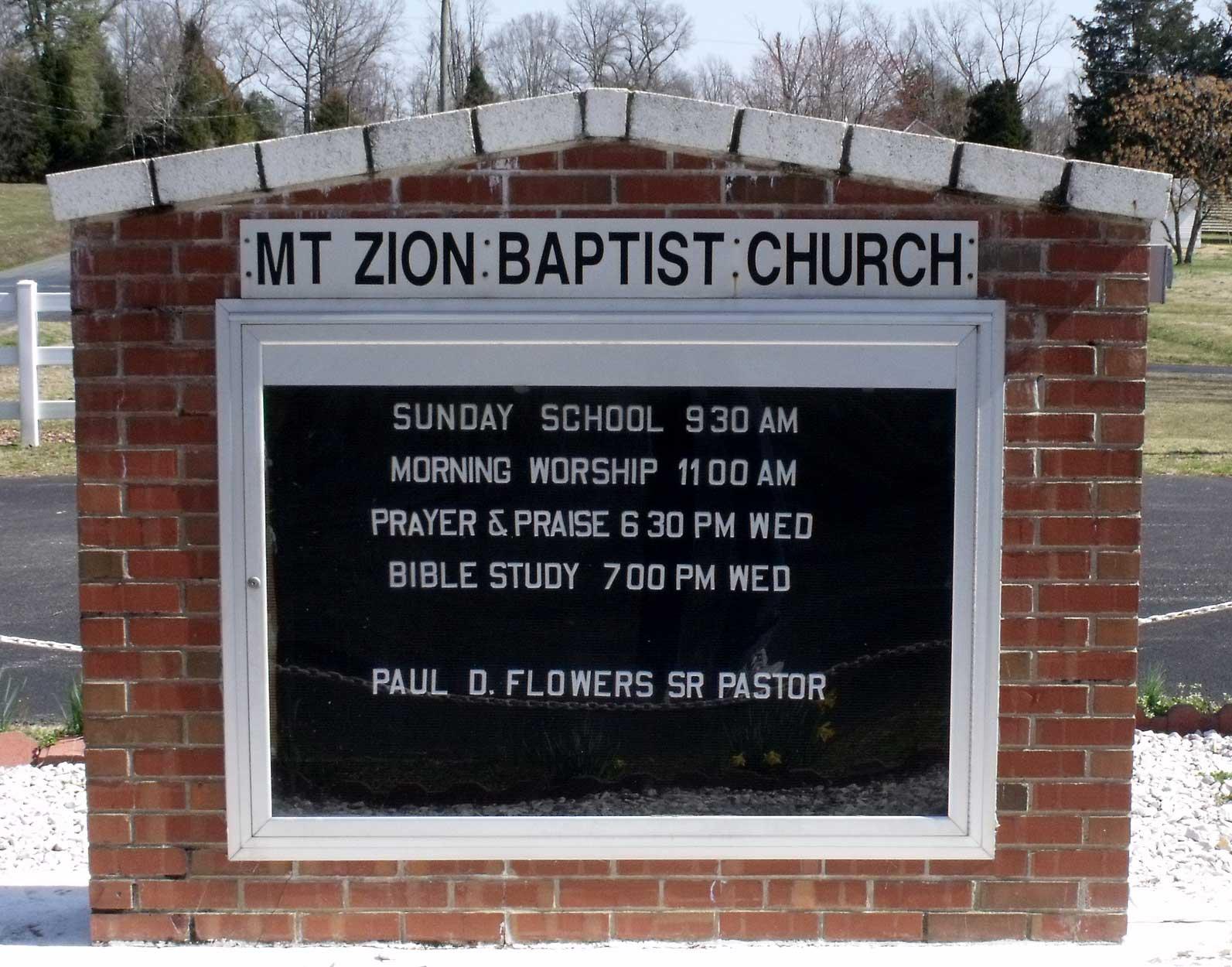 mount zion baptist church cemetery in mechanicsville virginia