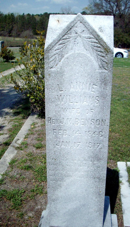 L. Annie <i>Williams</i> Benson