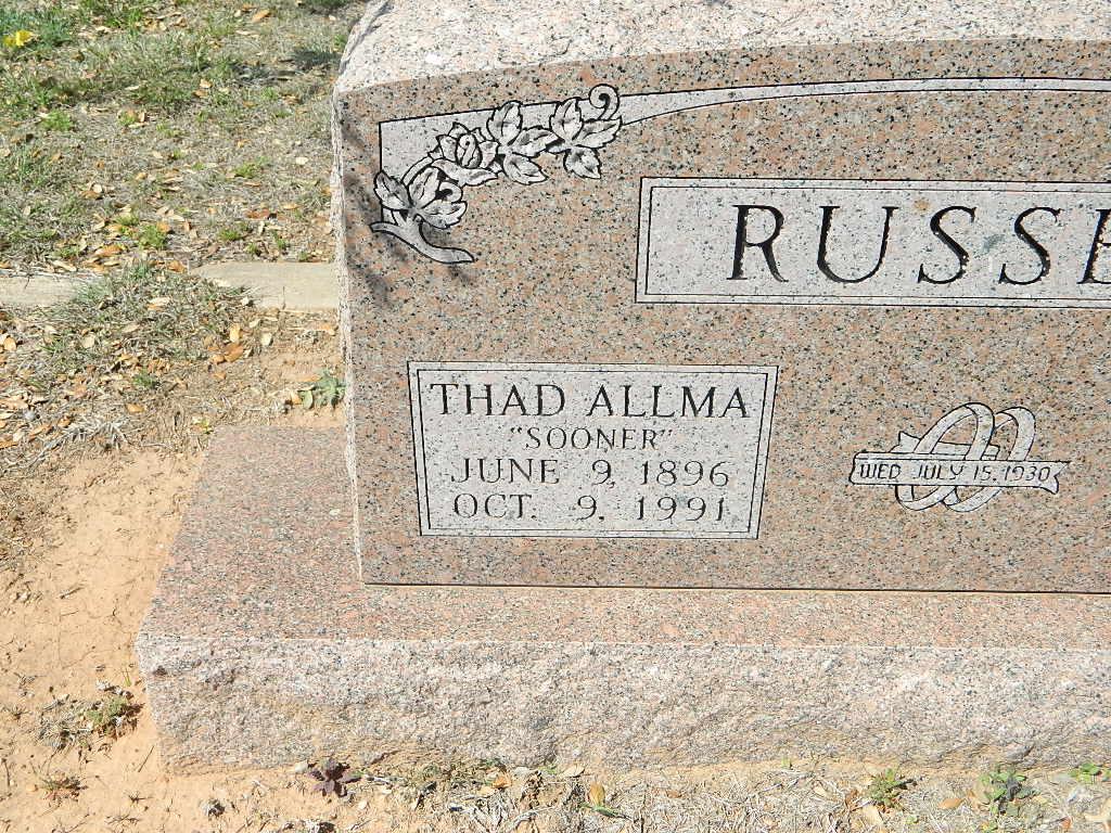 Thad Allma Sooner Russell