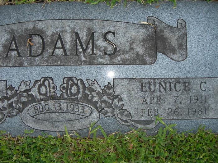 Eunice C <i>Campbell</i> Adams