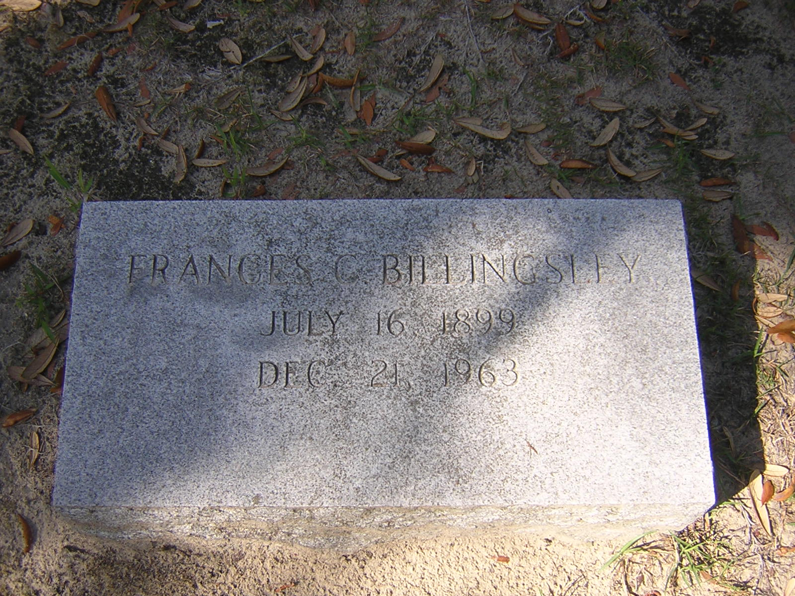 Frances <i>Cone</i> Billingsley