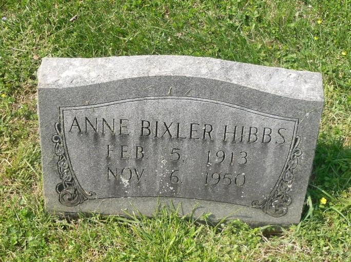 Anne <i>Bixler</i> Hibbs