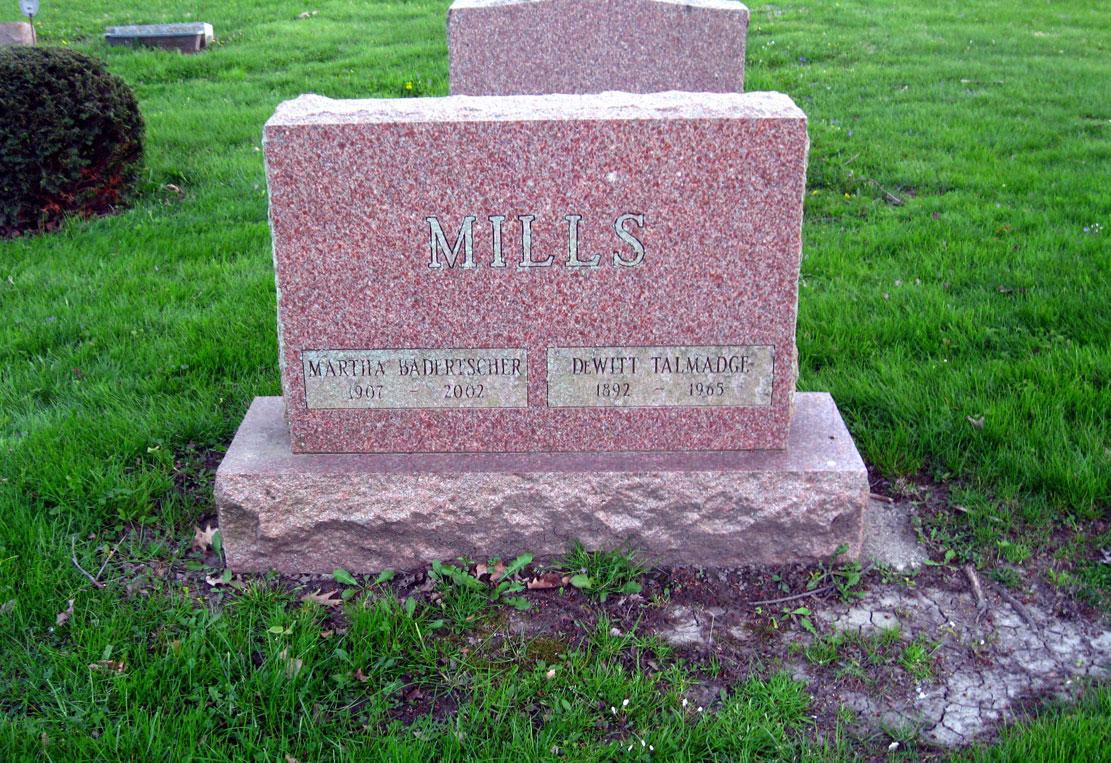 Martha <i>Badertscher</i> Mills