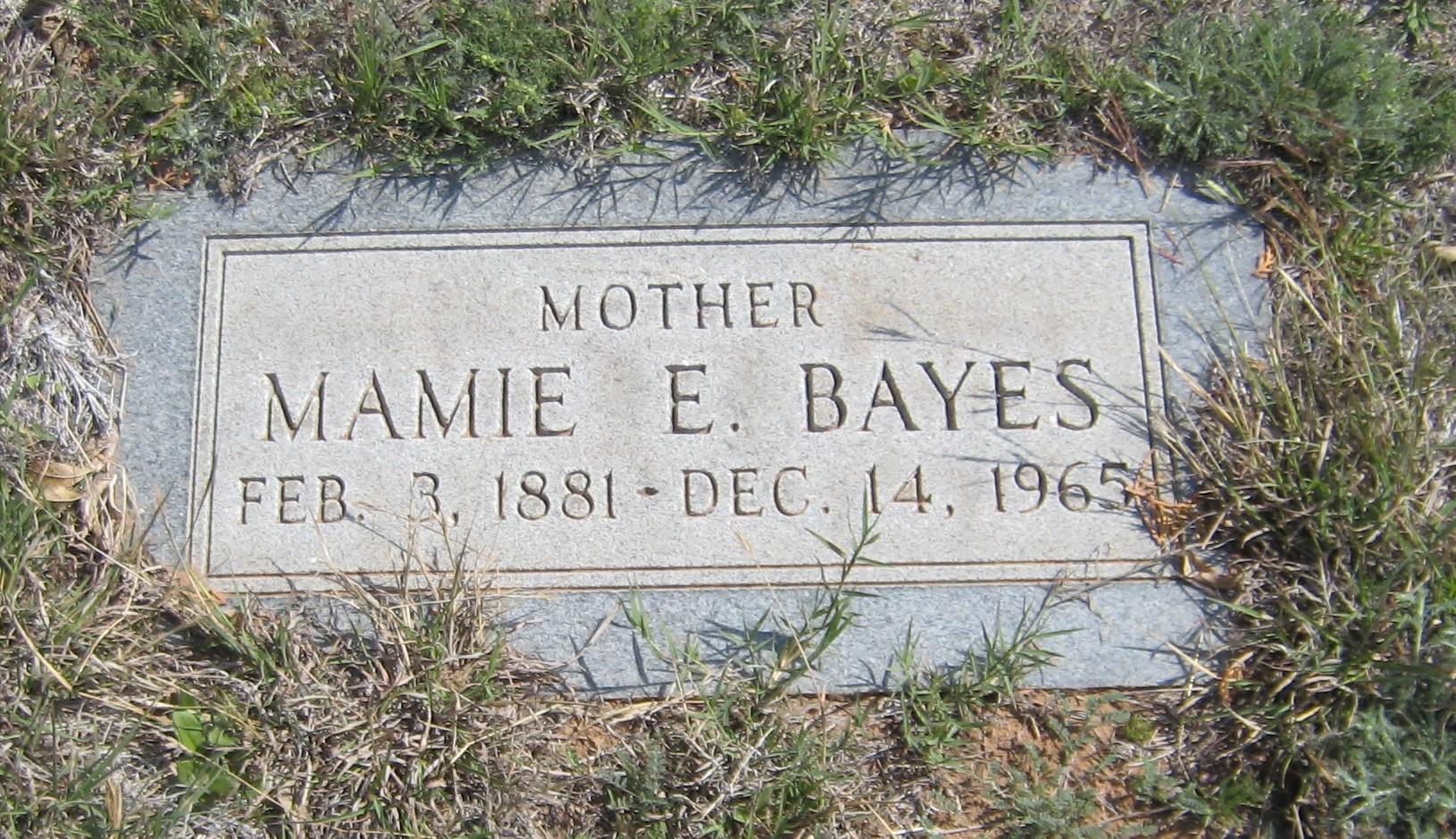 Mamie E <i>VanEvery</i> Bayes