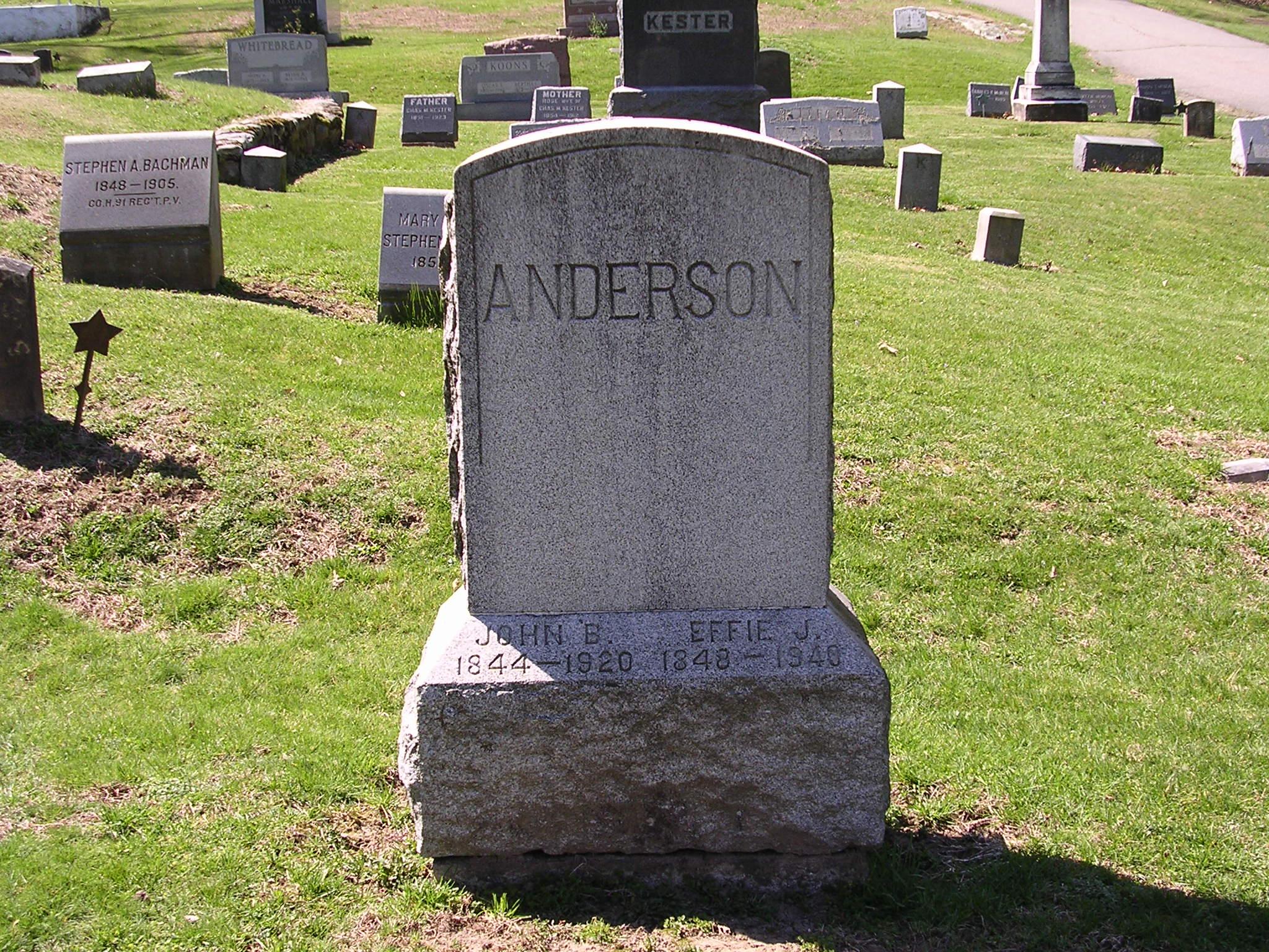 Sgt John B Anderson