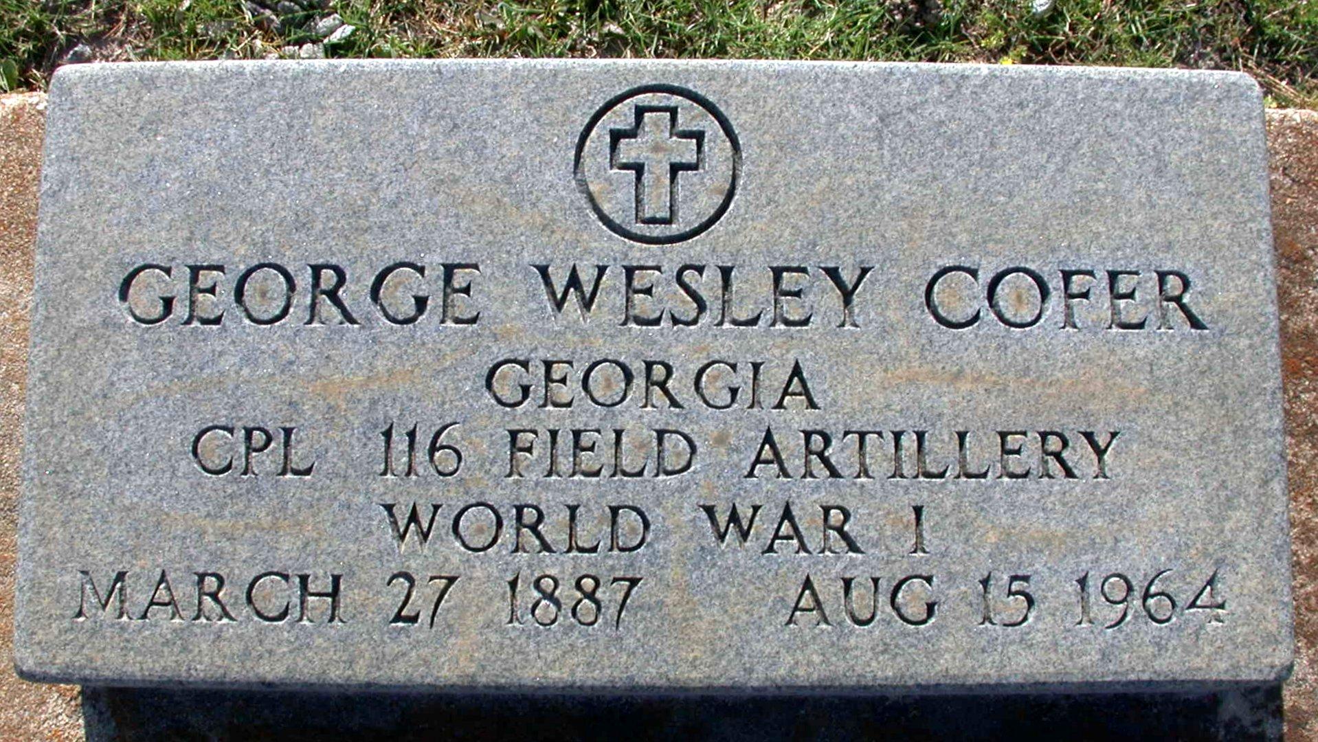 George Wesley West Cofer, Sr