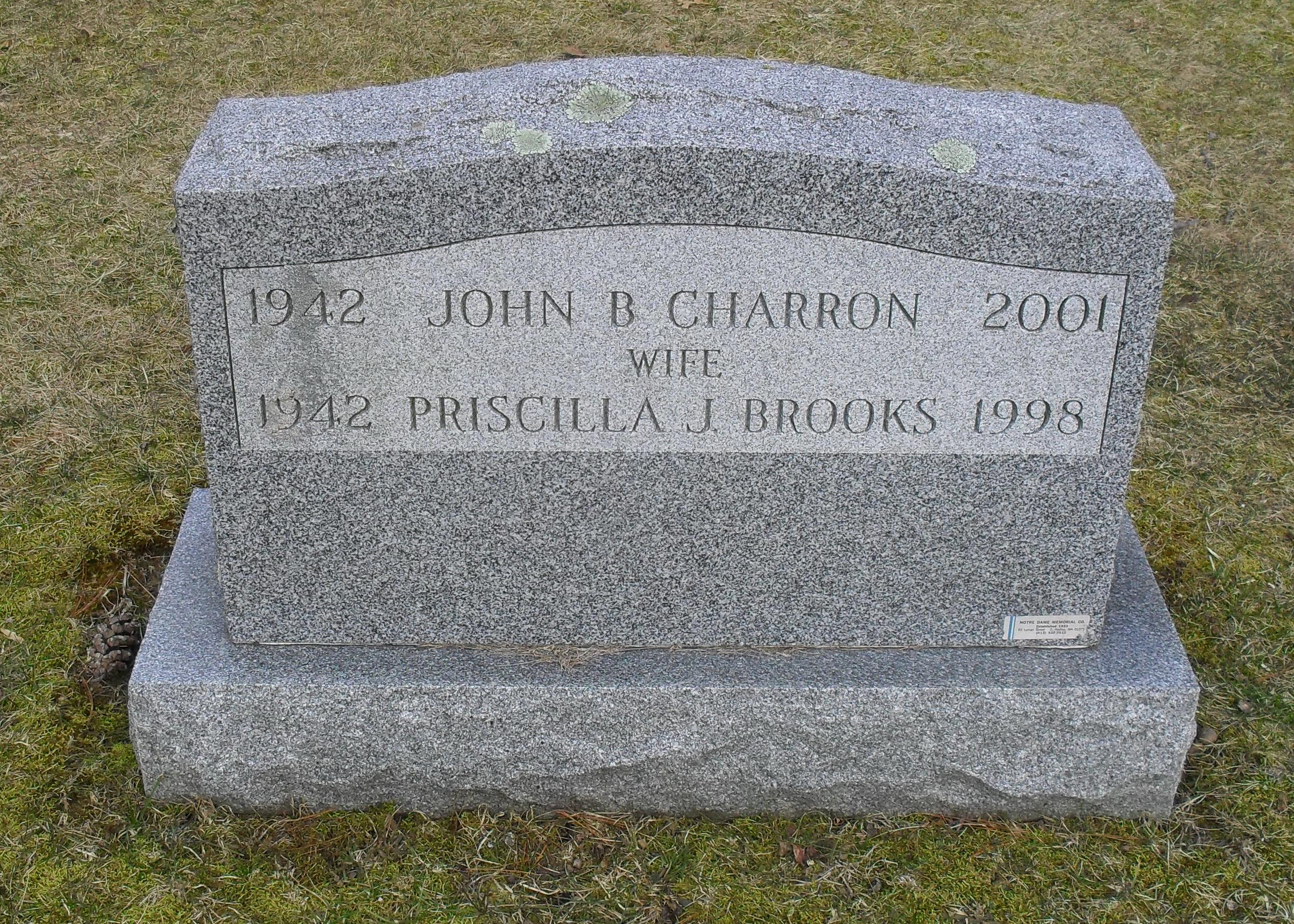 Priscilla Jane <i>Brooks</i> Charron