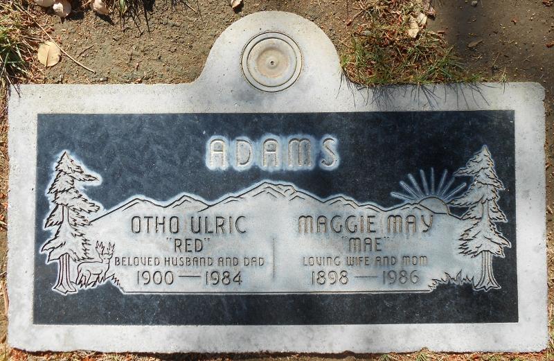 Maggie Mae Mae <i>Harris</i> Adams