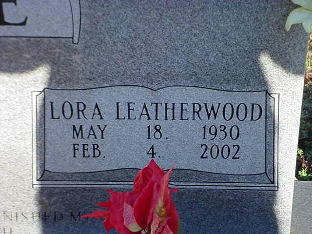 Lora <i>Leatherwood</i> Brendle