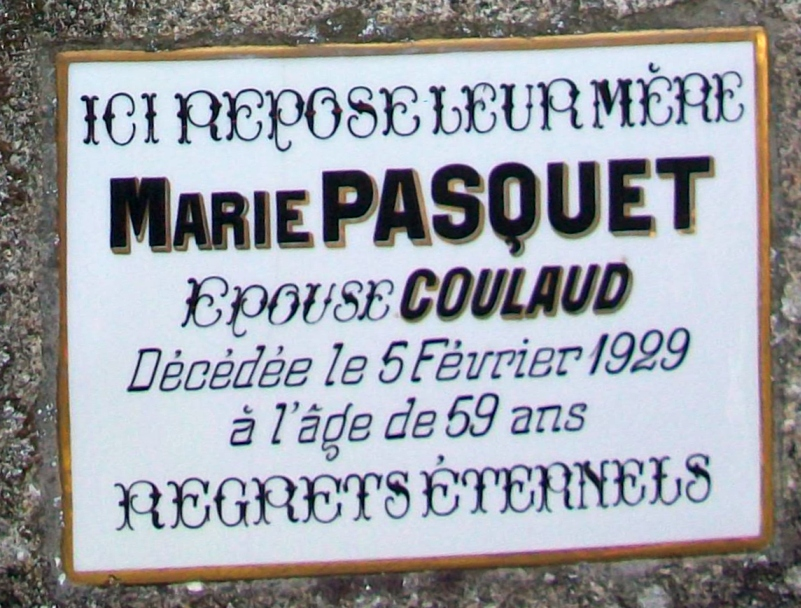 Marie <i>Pasquet</i> Coulaud