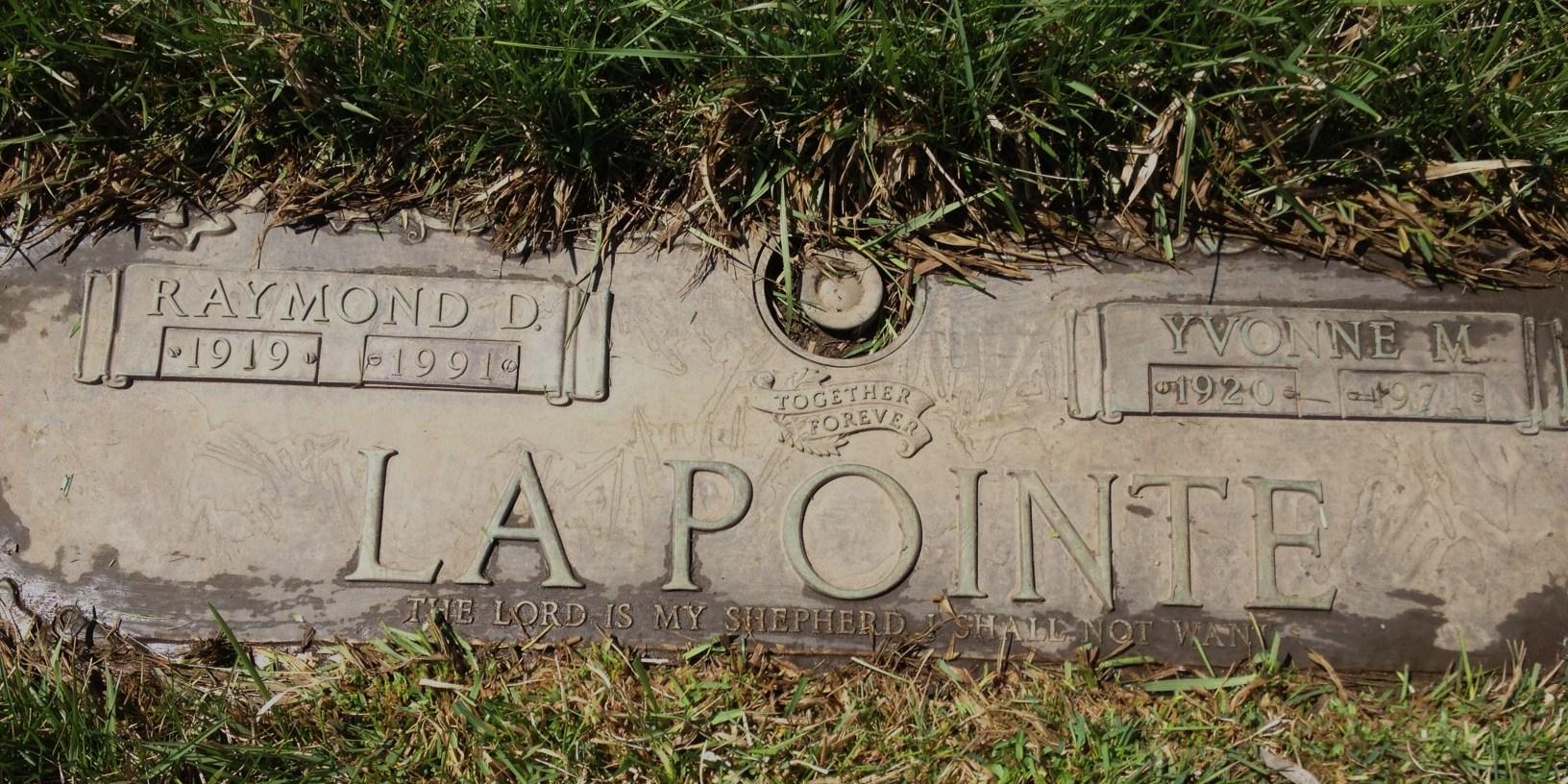 Mrs Yvonne Mae <i>Martin</i> Lapointe