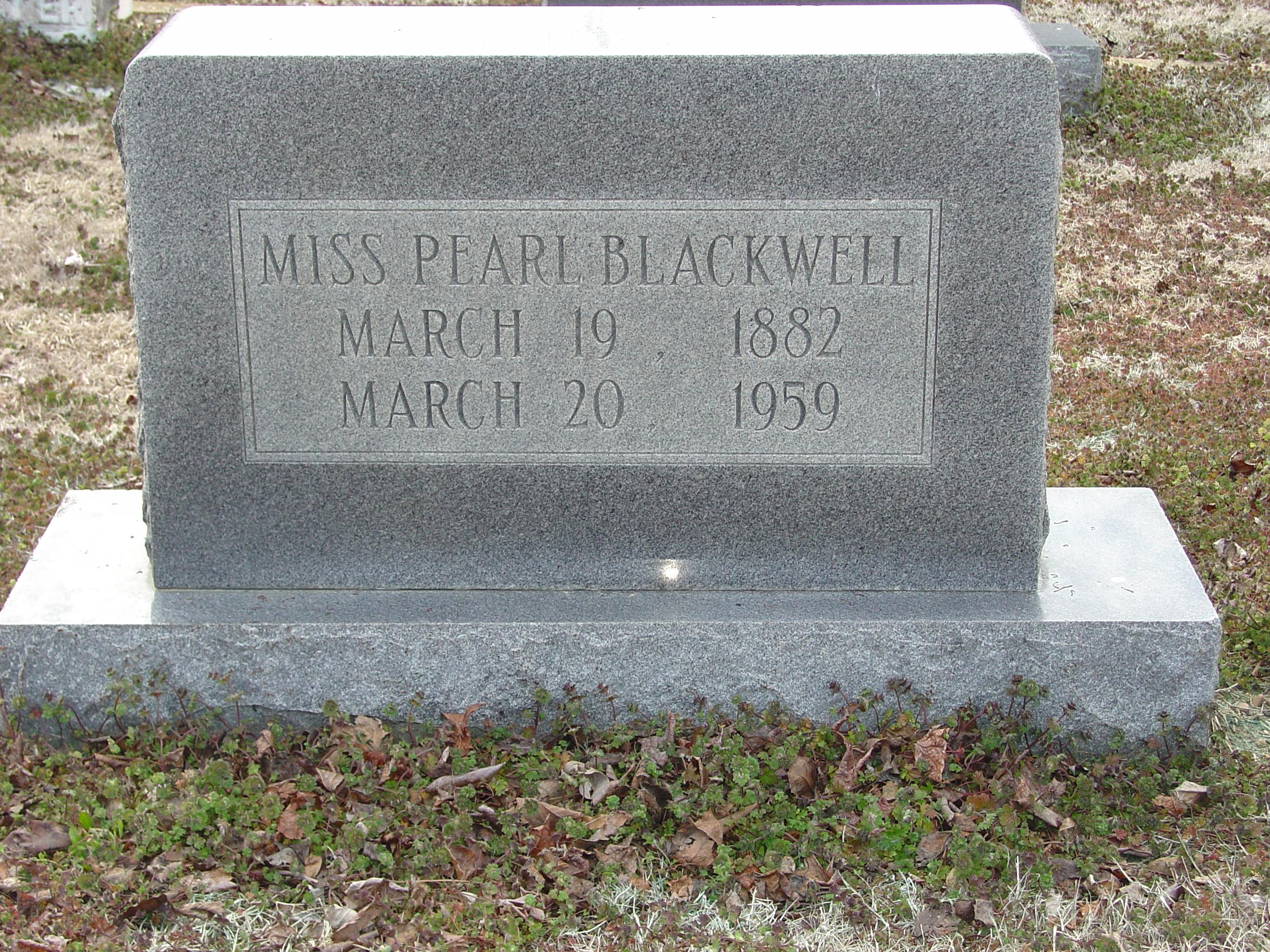 Pearl Augusta Blackwell