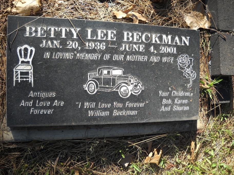 Profile photo:  Betty Lee <I>McCowan</I> Beckman