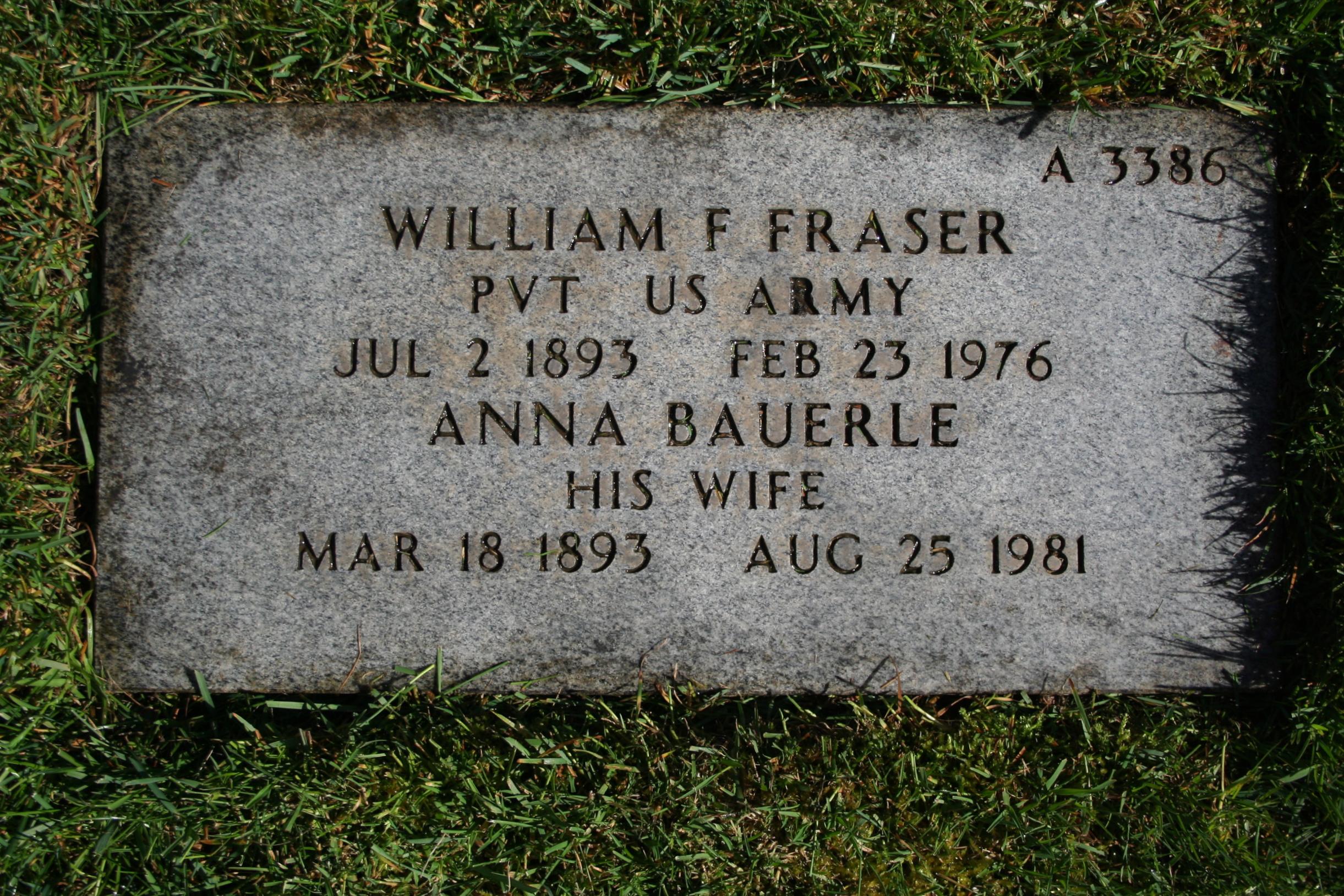 William F Fraser