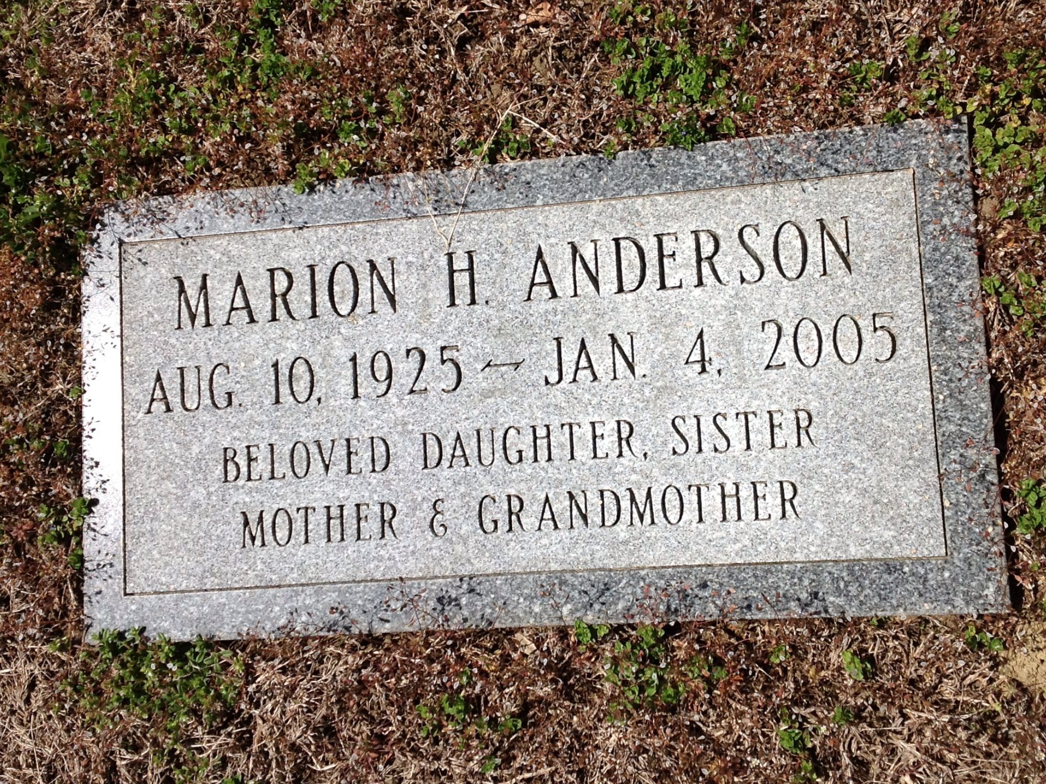 Marion H Anderson