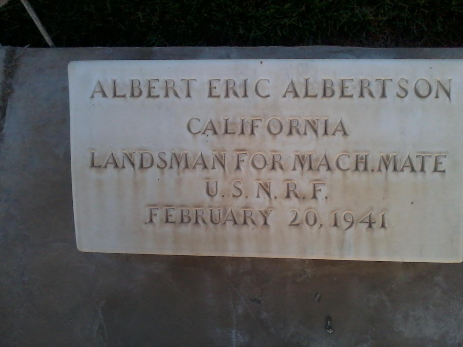 Albert Eric Albertson