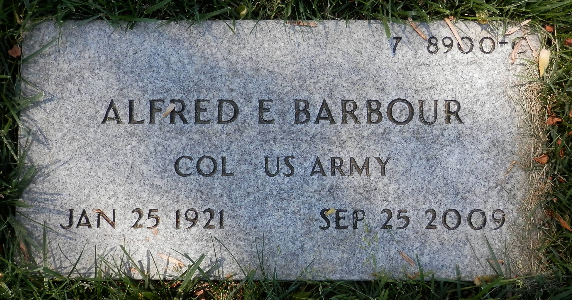 Col Alfred Edgar Barbour