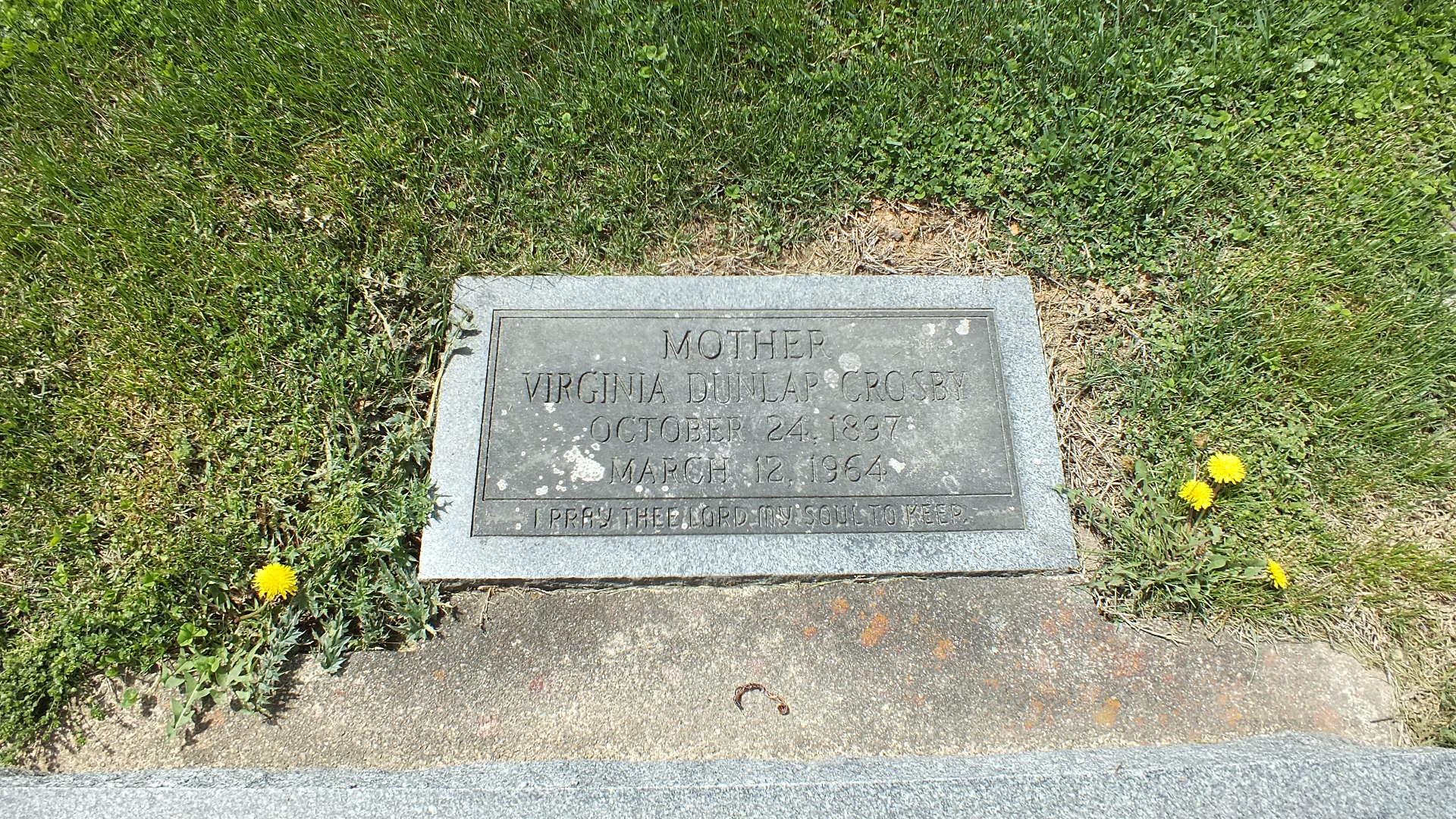 Agnes Virginia <i>Dunlap</i> Crosby