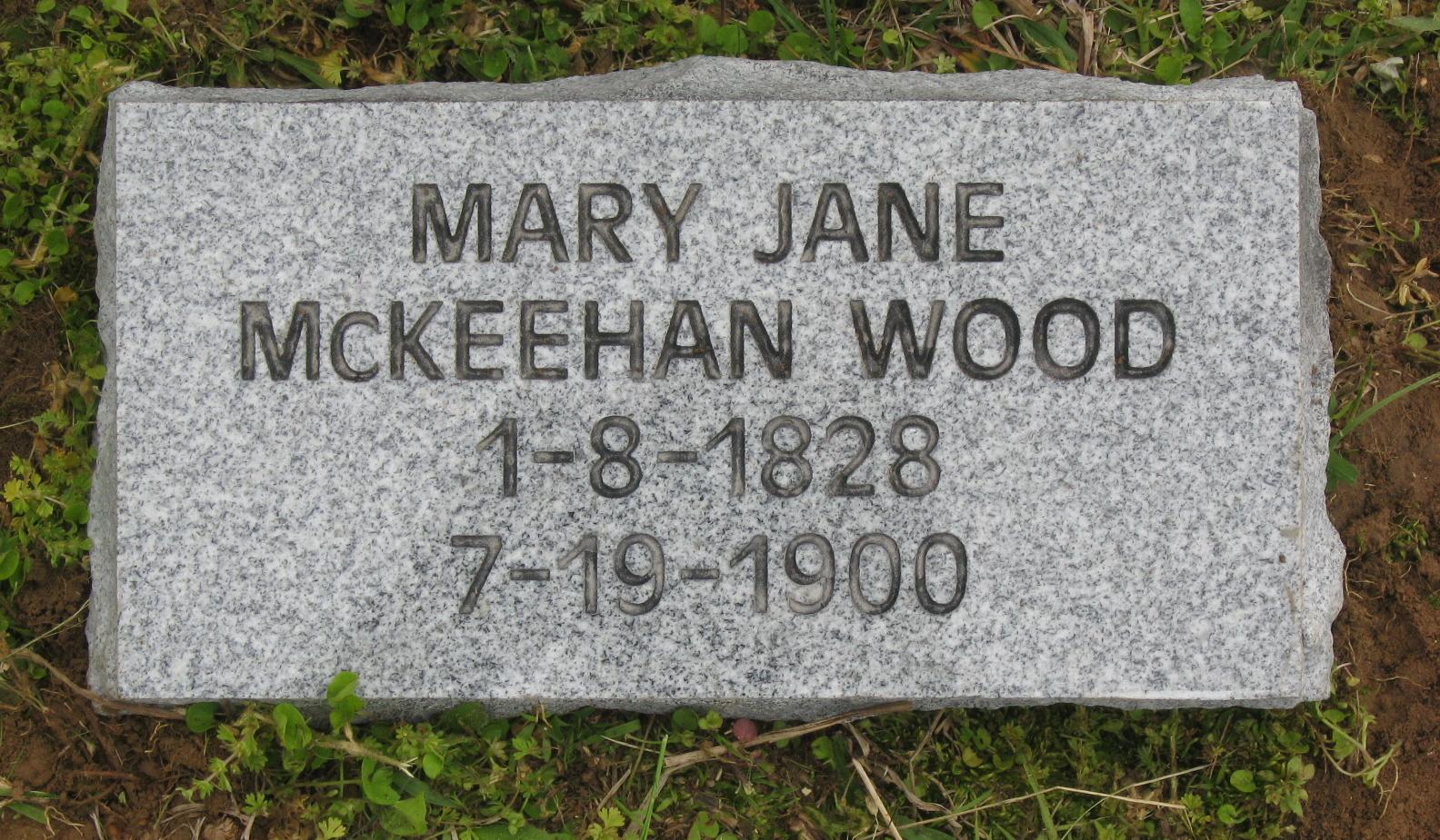 Mary Jane <i>McKeehan</i> Wood