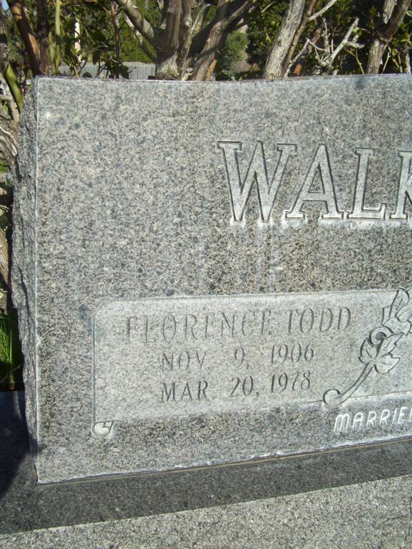Florence <i>Todd</i> Walkington