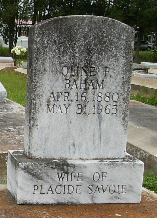 Oline F. <i>Baham</i> Savoie