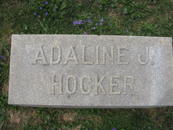 Adaline J <i>Zimmerman</i> Hocker
