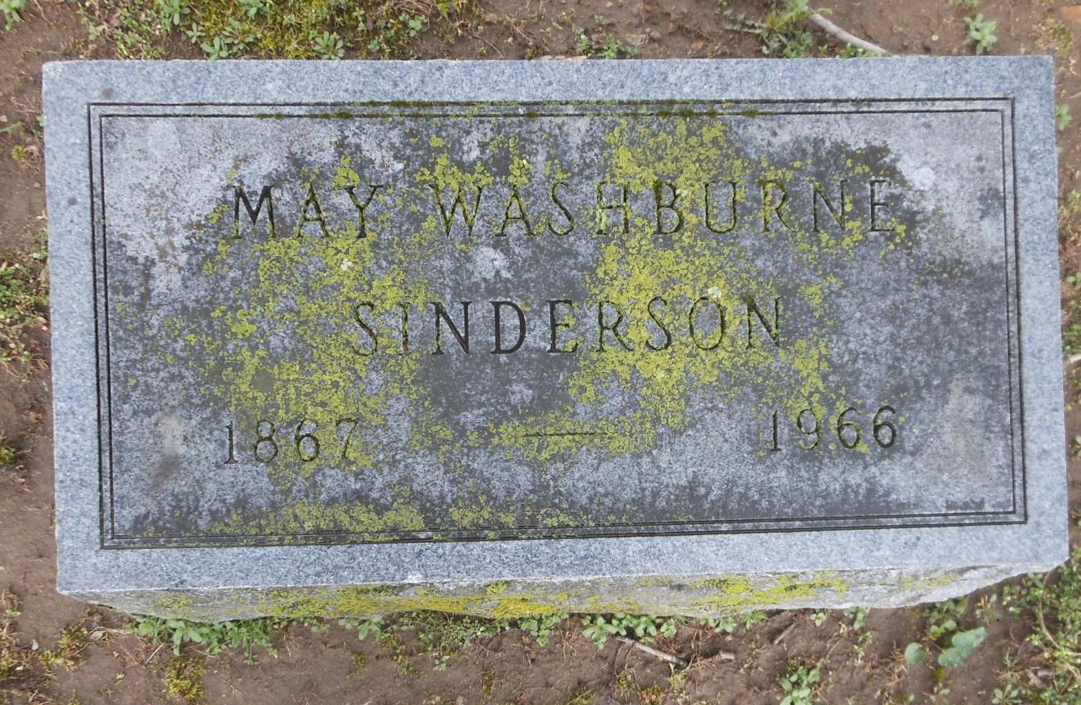Mary May May <i>Washburne</i> Sinderson