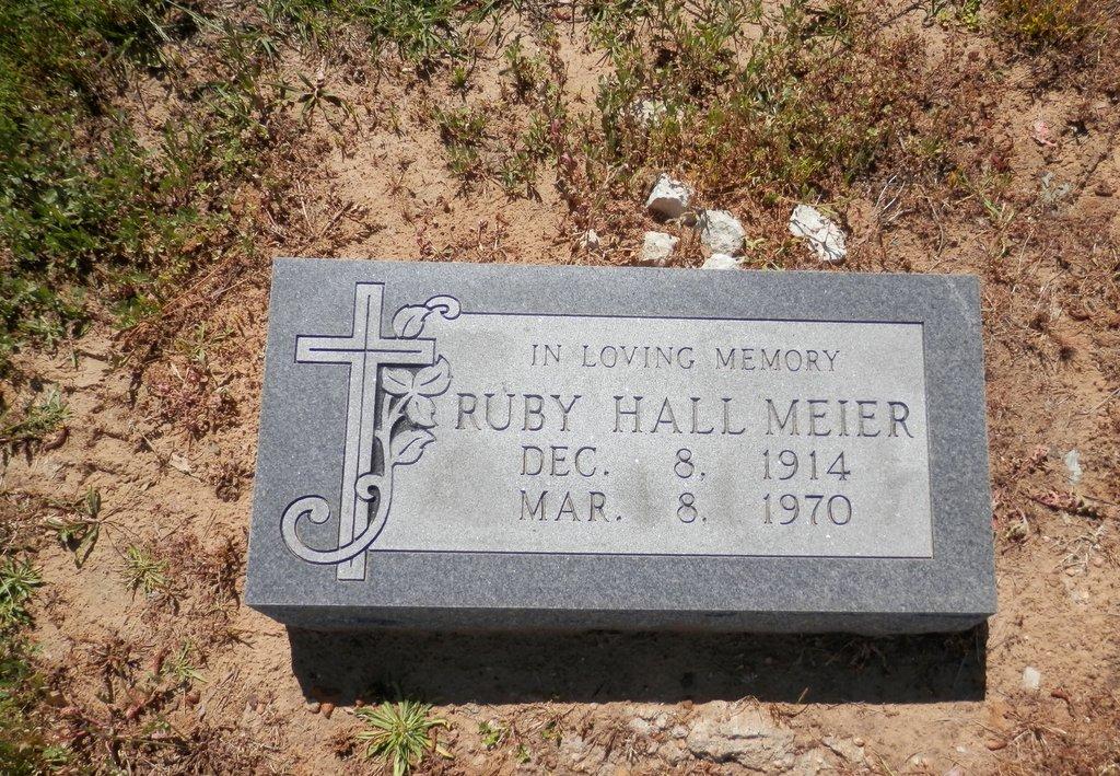 Ruby <i>Hall</i> Meier