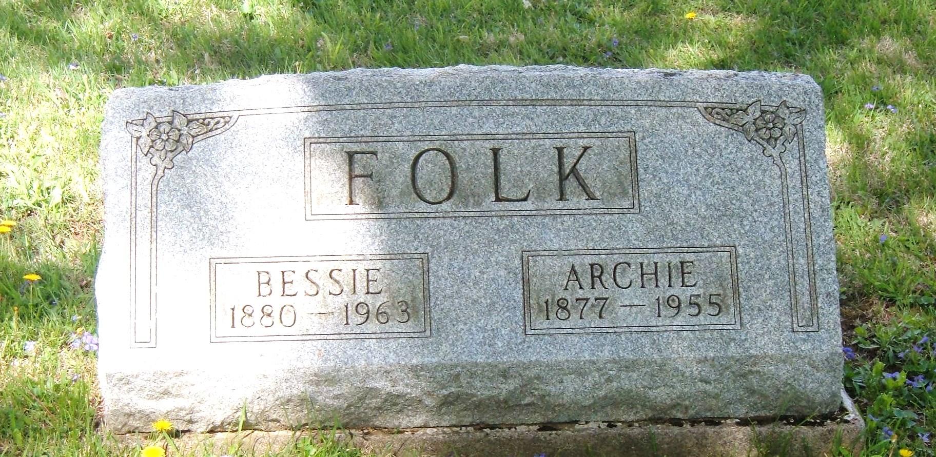 Bessie <i>Baker</i> Folk