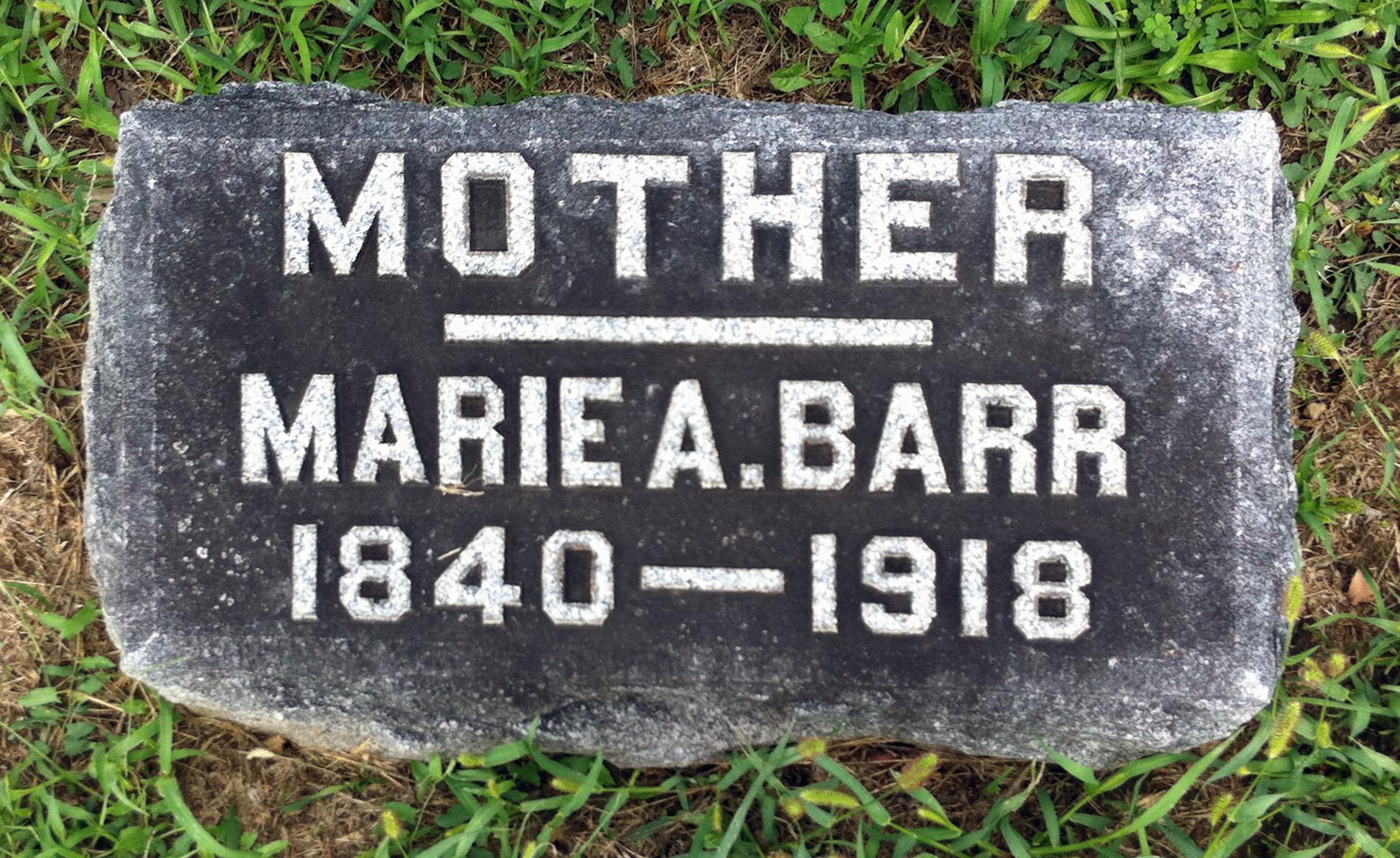 Marie A. <i>Williams</i> Barr