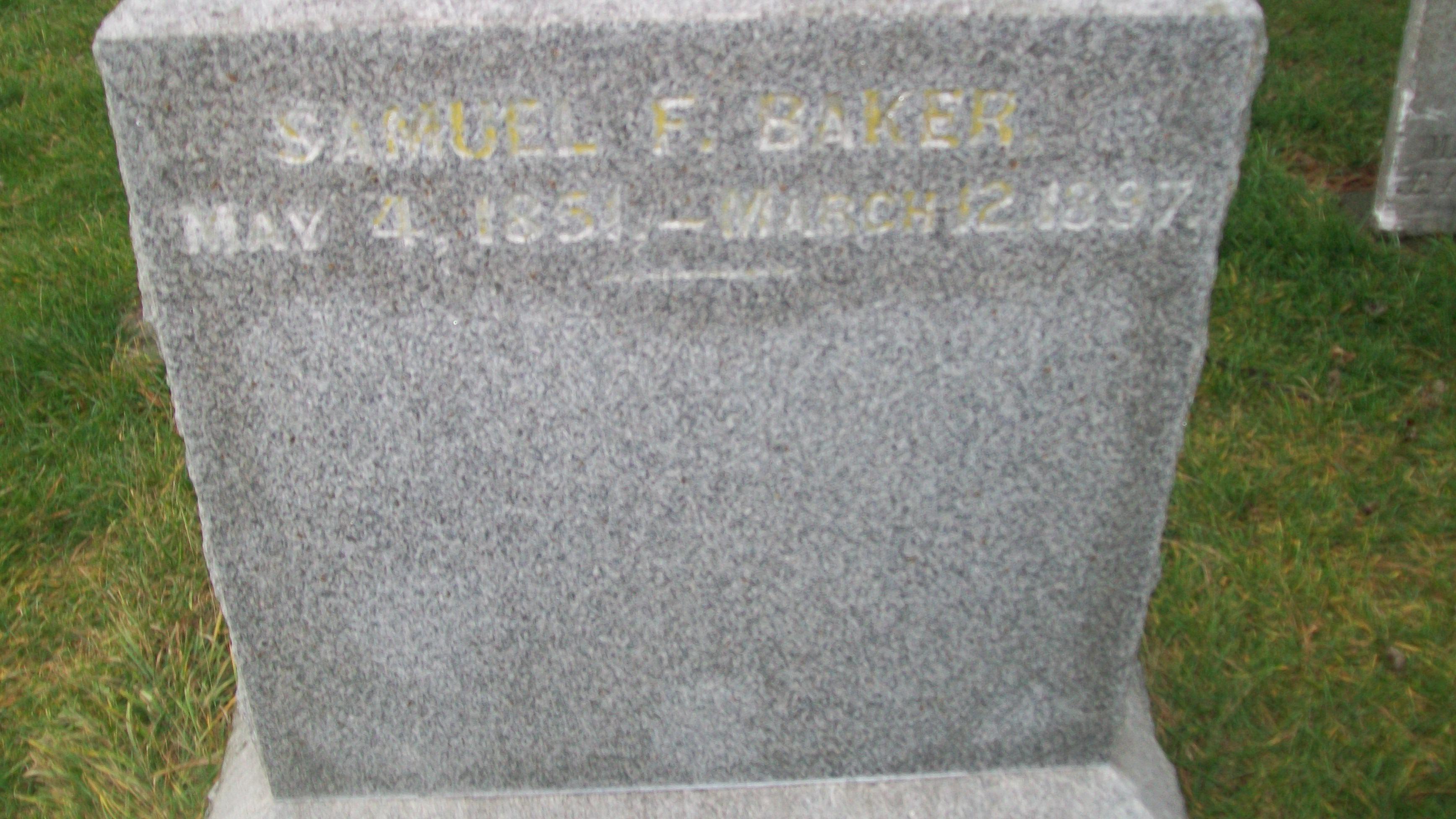Samuel F Baker
