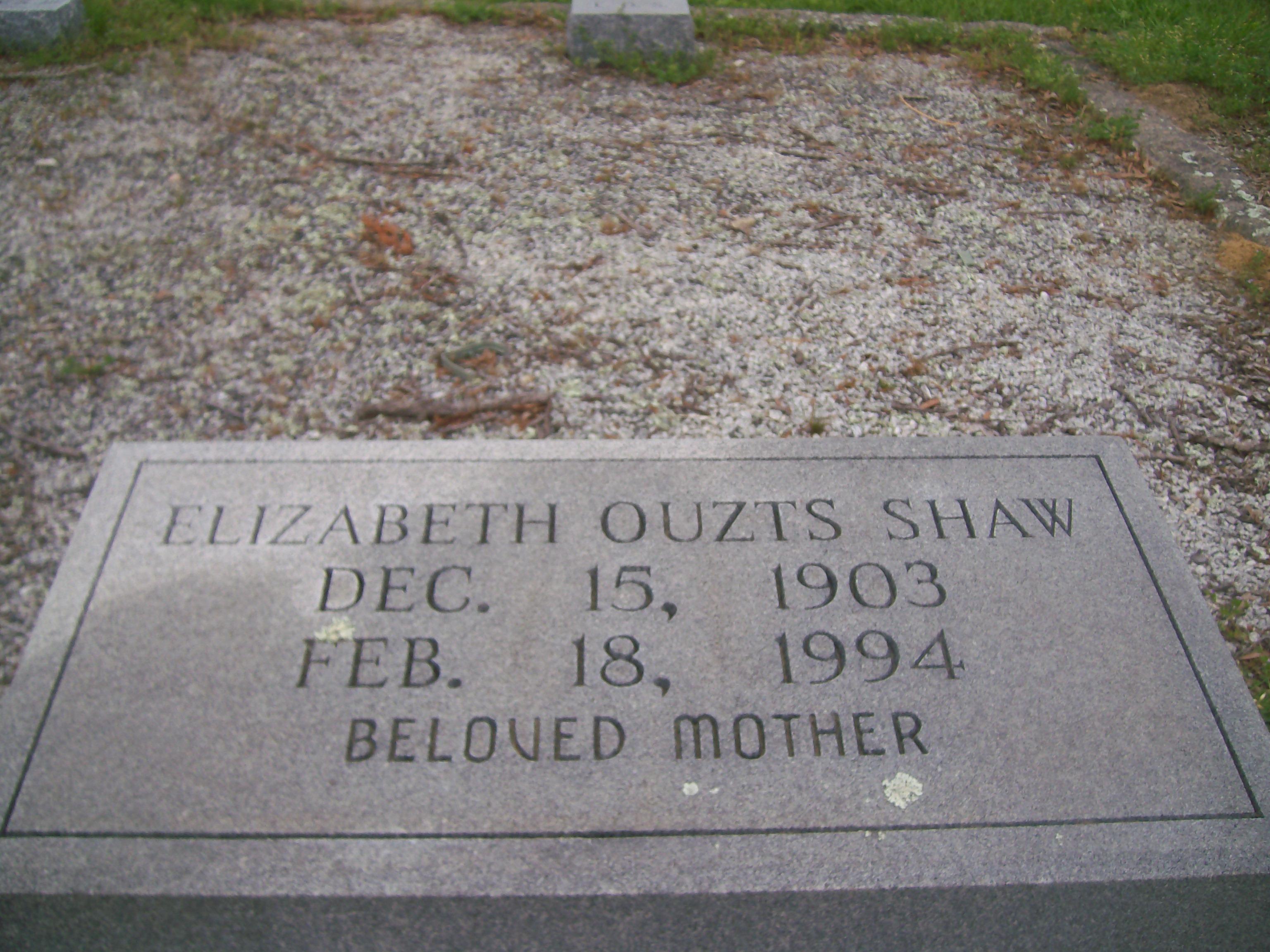 Elizabeth Louisa Betty Lou <i>Ouzts</i> Shaw Thompson