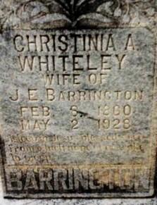 Christinia Angeline <i>Whiteley</i> Barrington