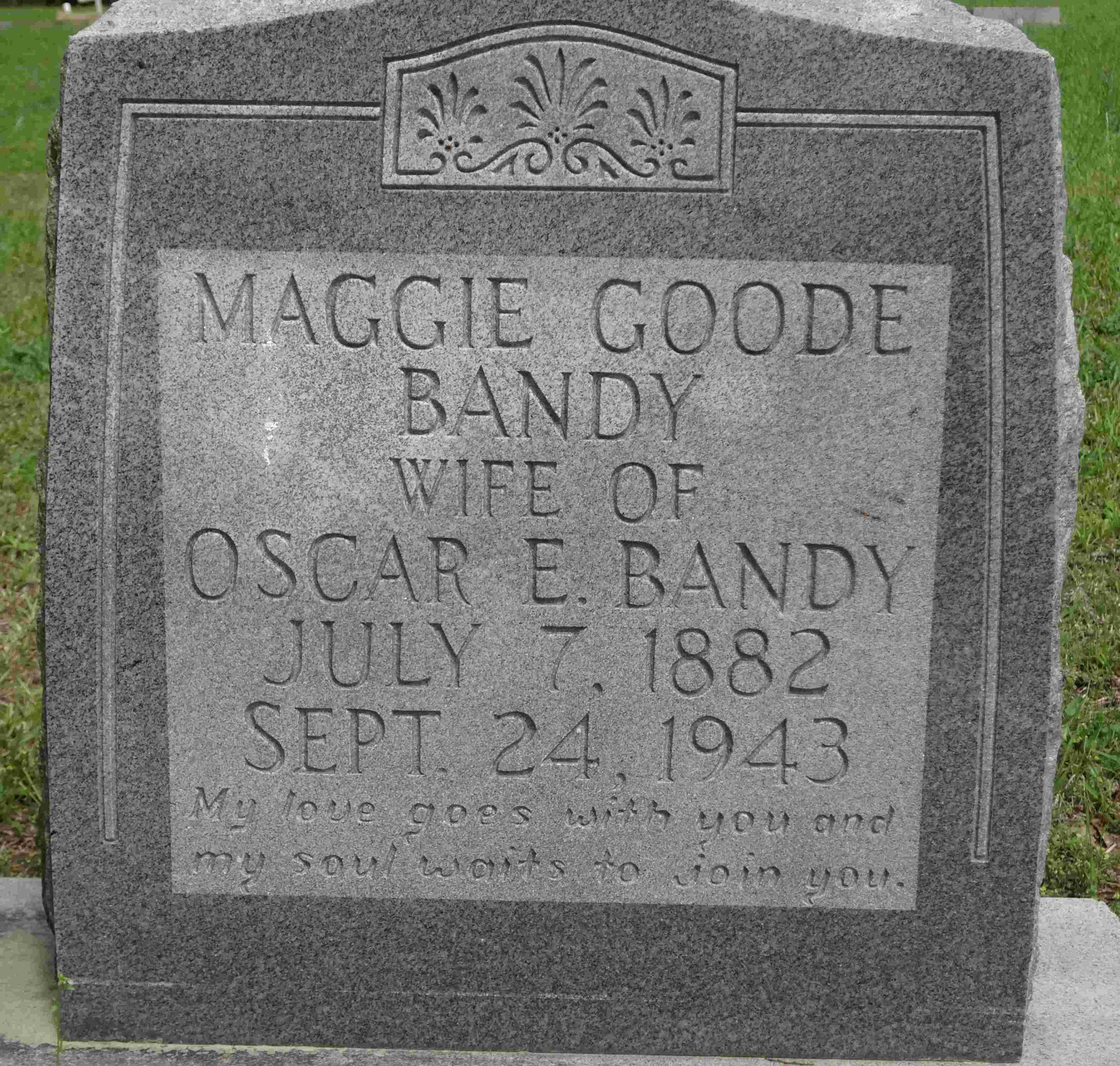 Margaret Lee Maggie <i>Goode</i> Bandy