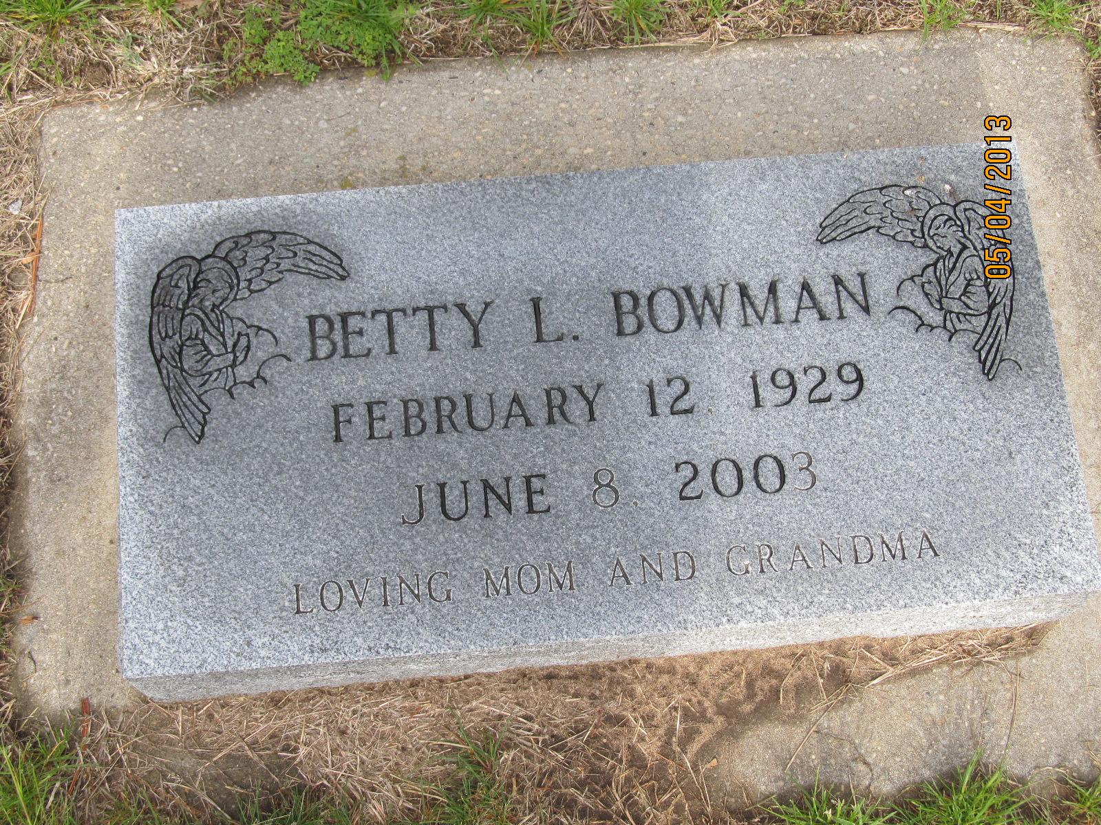 Betty L Bowman